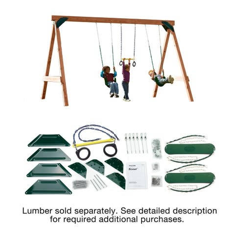 Swing-N-Slide Scout Swing Set DIY Hardware Kit (Lumber not included) - 12'x8'x8' or 16'x8'x8' with cantilever design