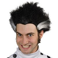 Mad Scientist Black with White Streaks Wig