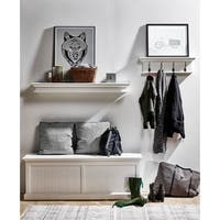 NovaSolo White Mahogany 4-hook Coat Rack