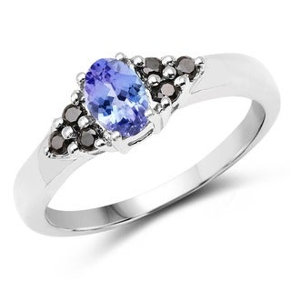 Malaika 0.62 Carat Genuine Tanzanite .925 Sterling Silver Ring