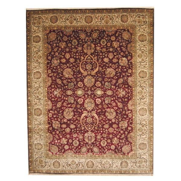 Herat Oriental Afghan Hand-knotted Vegetable Dye 1920s Antique Ziegler Wool Rug (9' x 11'9) - 9' x 11'9