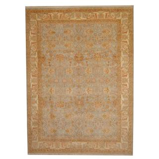 Herat Oriental Indo Hand-knotted Vegetable Dye Oushak Wool Rug (8'7 x 11'9)