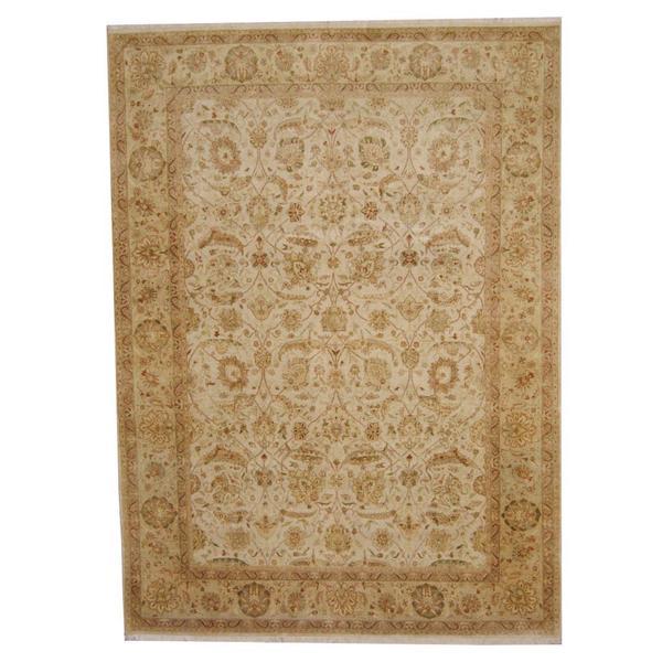 Herat Oriental Afghan Hand-knotted Vegetable Dye Ziegler Wool Rug (8'6 x 11'8) - 8'6 x 11'8