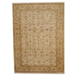 Herat Oriental Afghan Hand-knotted Vegetable Dye Ziegler Wool Rug (8'6 x 11'8)
