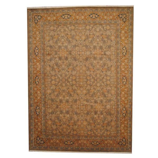 Handmade Herat Oriental Afghan Vegetable Dye Ziegler Wool Rug - 9' x 12'4 (India)