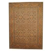 Herat Oriental Afghan Hand-knotted Vegetable Dye Ziegler Wool Rug (9' x 12'4) - 9' x 12'4