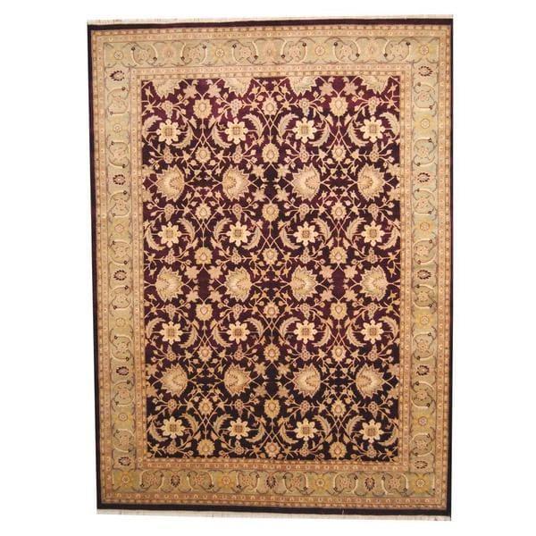 Handmade Herat Oriental Indo Vegetable Dye Ziegler Wool Rug - 9' x 12'2 (India)