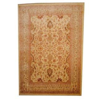 Herat Oriental Afghan Hand-knotted Vegetable Dye Oushak Wool Rug (8'9 x 12'5)