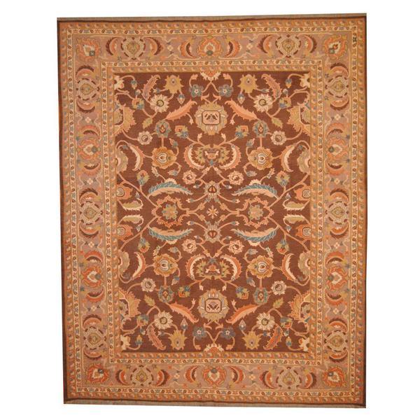 Handmade Herat Oriental Afghan Vegetable Dye Soumak Wool Rug (Afghanistan) - 9'8 x 12'