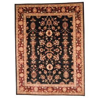 Herat Oriental Afghan Hand-knotted Vegetable Dye Oushak Wool Rug (9' x 12')