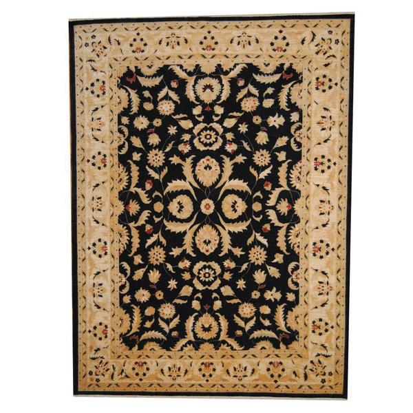 Herat Oriental Afghan Hand-knotted Vegetable Dye Oushak Wool Rug (8'4 x 11'5) - 8'4 x 11'5