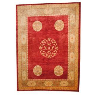 Herat Oriental Afghan Hand-knotted Vegetable Dye Pekin Wool Rug (9' x 12'2)