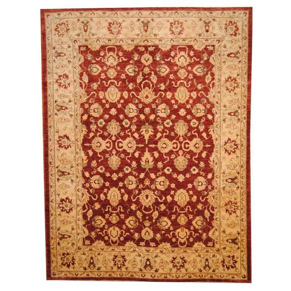 Herat Oriental Afghan Hand-knotted Vegetable Dye Oushak Wool Rug (8'7 x 11'6) - 8'7 x 11'6