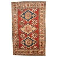 Handmade Herat Oriental Afghan Vegetable Dye Kazak Wool Rug (Afghanistan) - 7'4 x 11'9