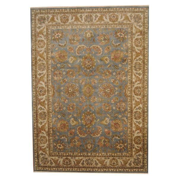 Herat Oriental Indo Hand-knotted Vegetable Dye Oushak Wool Rug (8'5 x 12') - 8'5 x 12'