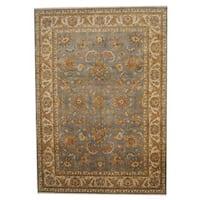 Handmade Herat Oriental Indo Vegetable Dye Oushak Wool Rug (India) - 8'5 x 12'