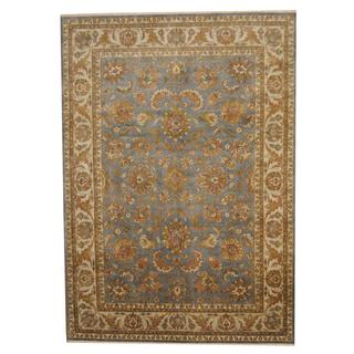Herat Oriental Indo Hand-knotted Vegetable Dye Oushak Wool Rug (8'5 x 12')