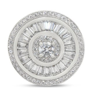 Gioelli Sterling Silver Cubic Zirconia Round Designer Ring