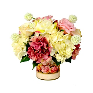 Rose/ Hydrangea/ White Allium Floral Arrangement