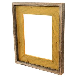 Recherche Furnishings Natural Mustard Reclaimed Wood Photo Frame