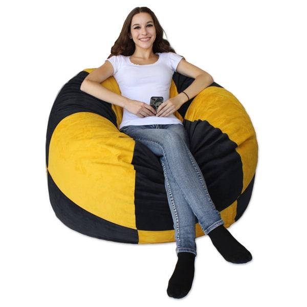 Shop Koala Foam Black  Gold Shredded Foam Bean Bag - Free Shipping ... c853f261adb85