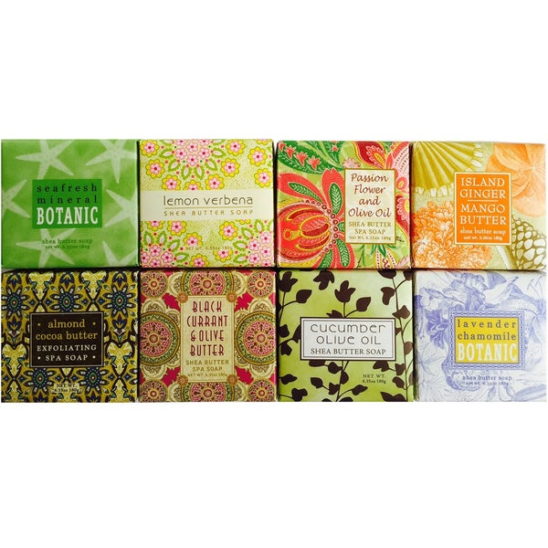 Triple Milled Luxurious Botanical Spa Soaps Assortment (Set of 8)