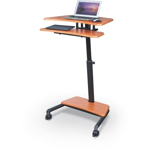 Balt up rite mobile adjustable sit and stand workstation desk free