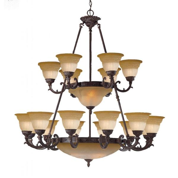 Venetian Bronze Chandelier: Shop Traditional Norwalk 16 + 8-light Venetian Bronze