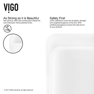 VIGO Amaryllis Matte Stone Vessel Bathroom Sink