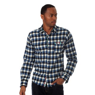 Something Strong Men's Flannel Shirt in Blue