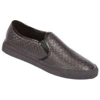 Coshare Women's Desire-32 Elastic Detail Low Top Sneakers