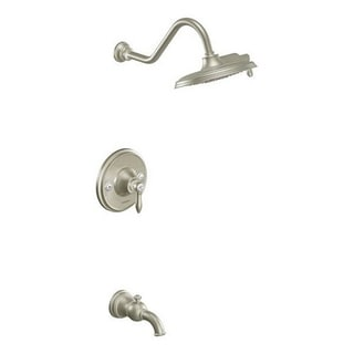 Moen Weymouth Brushed Nickel PosiTemp Tub and Shower Fixtures