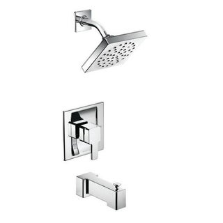 Moen 90-degree Eco-Performance Chrome PosiTemp Tub and Shower Fixtures