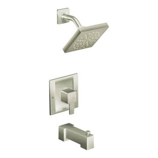 Moen 90-degree Eco-Performance Brushed Nickel PosiTemp Tub and Shower Fixtures