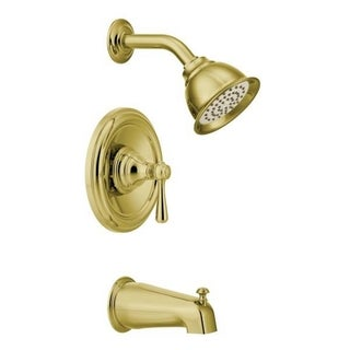 Moen Kingsley Polished Brass PosiTemp Tub and Shower Fixtures