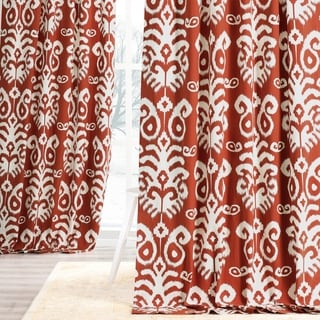 Exclusive Fabrics Sri Lanka Printed Cotton Twill Curtain Panel