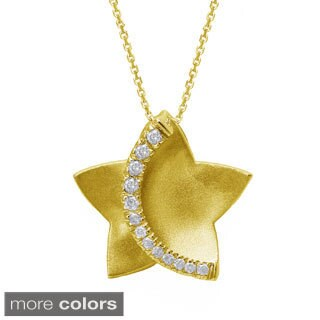 Beverly Hills Charm 10k Gold 1/6ct TDW Diamond Star Necklace (H-I, I2-I3)