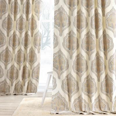 Exclusive Fabrics Arabesque Printed Cotton Twill Curtain (1 Panel)