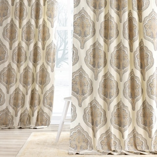 EFF Arabesque Printed Cotton Twill Curtain (As Is Item)