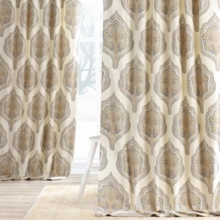 Exclusive Fabrics Arabesque Printed Cotton Twill Curtain