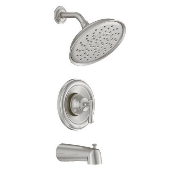 Moen Ashville Brushed Nickel Tub And Shower Kit