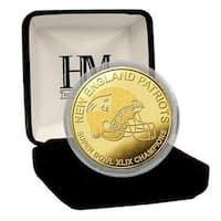 New England Patriots Super Bowl XLIX Champions Gold Mint Coin