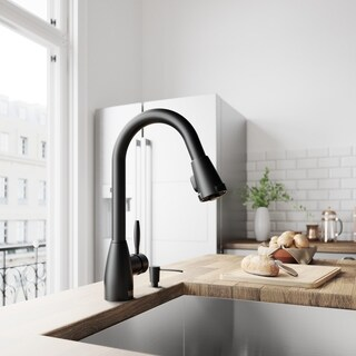 VIGO Graham Matte Black Pull-Down Kitchen Faucet