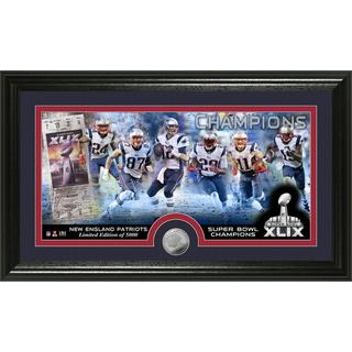 New England Patriots Super Bowl XLIX Champions Minted Coin Panoramic Photo Mint