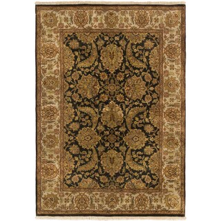 Hand-knotted Sultanabad Black/ Grey Rug (5' x 7'2)