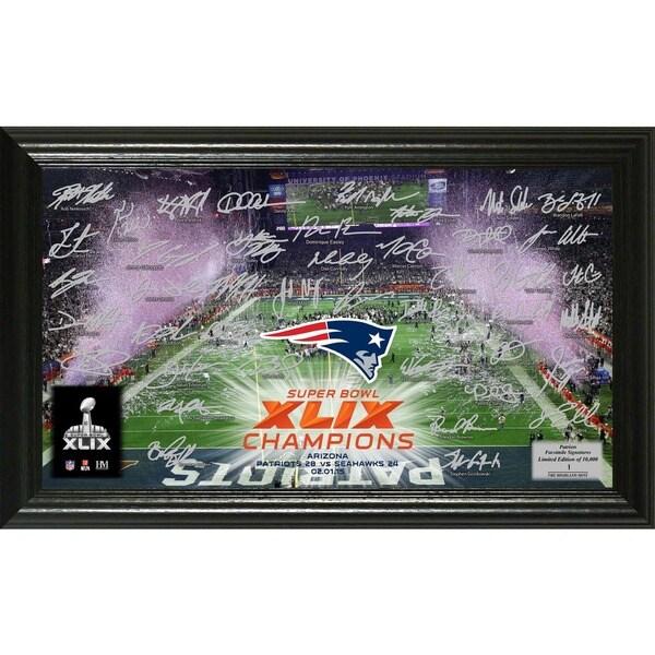 New England Patriots Super Bowl XLIX Champions Celebration Signature Photo