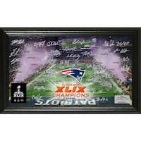 New England Patriots Super Bowl XLIX Champions Celebration Signature Photo