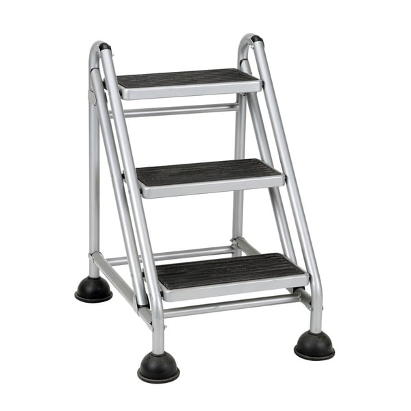 Shop Cosco 3 Step Rolling Step Ladder Free Shipping