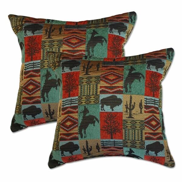 Shop Laramie Terracotta 40inch Decorative Throw Pillows Set Of 40 Simple Terracotta Decorative Pillows