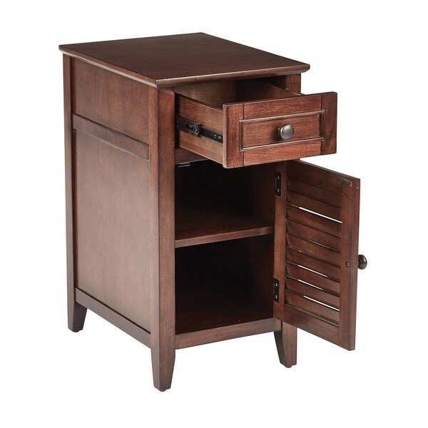 Shop Osp Home Furnishings Brooke Chair Side Table In Chestnut Finish